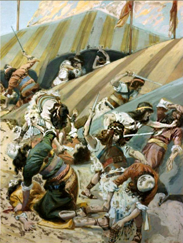 The massacre of the Idolaters (Tissot)