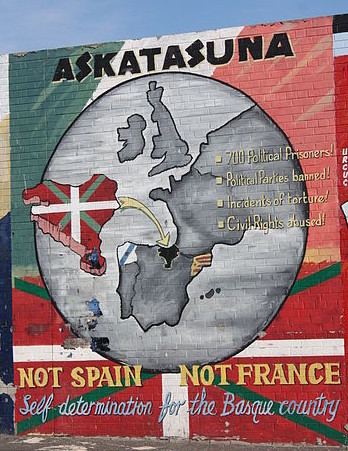 Mural supporting Basque self-determination